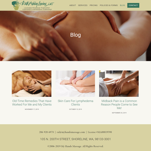 Blogger design with the title 'Blog Setup for Ruth Ashley Lewing'