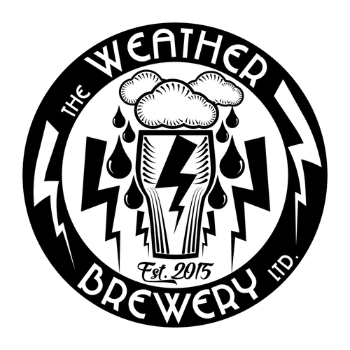 Weather logo with the title 'Weather Themed Craft Brewery Logo'