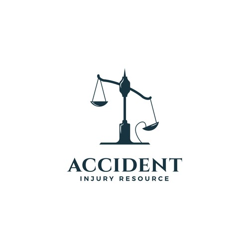 Gavel logo with the title 'Logo design for  a car accident referral service'