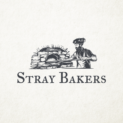 Dough design with the title 'Stray Bakers'