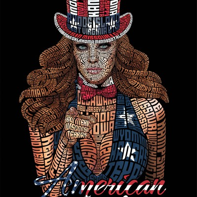 American Girl Typography