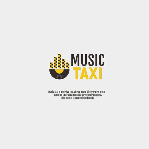 Taxi logo with the title 'Music Taxi'