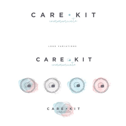 Communications brand with the title 'Logo design for Care Kit'