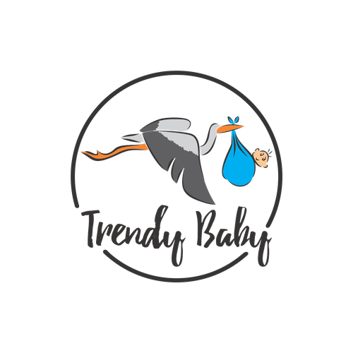 Stork logo with the title 'Trendy Baby'