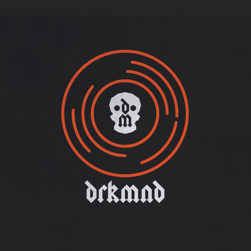Record logo with the title 'Drkmnd Music producer logo'