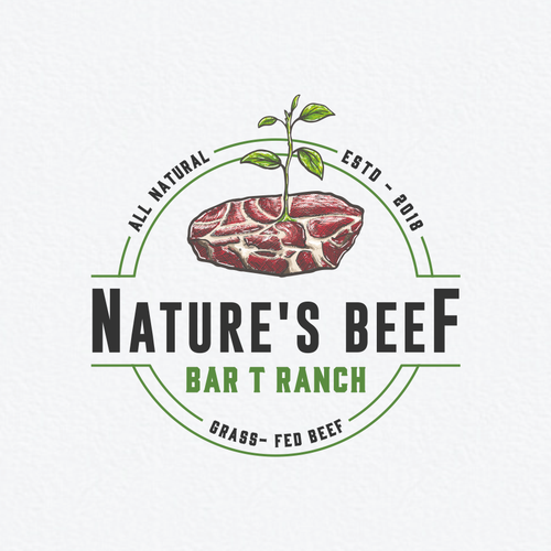 Combination logo with the title 'Nature's Beef New Logo!!!'