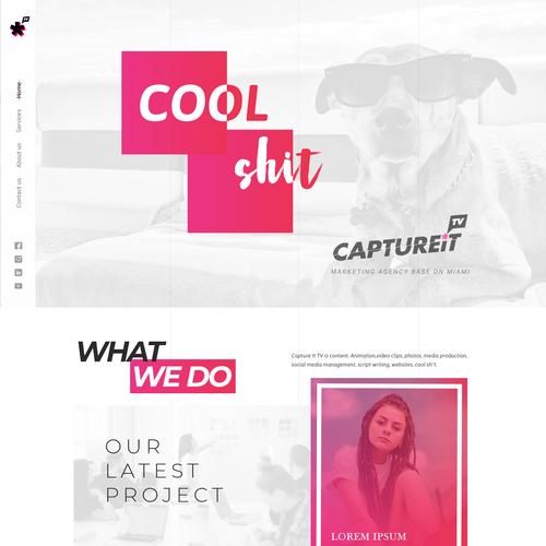 Design firm website with the title 'Website Design'