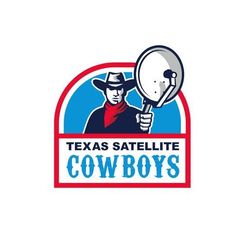 Satellite design with the title 'Texas Satellite Cowboys'