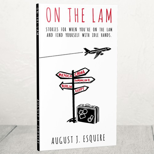 Tourism design with the title '- ON THE LAM - '