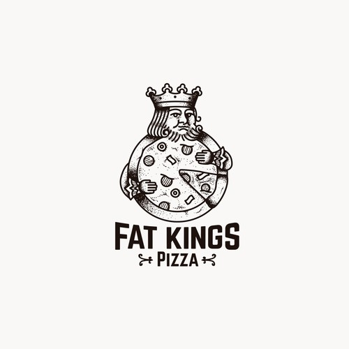 Fat design with the title 'Fat Kings Pizza'