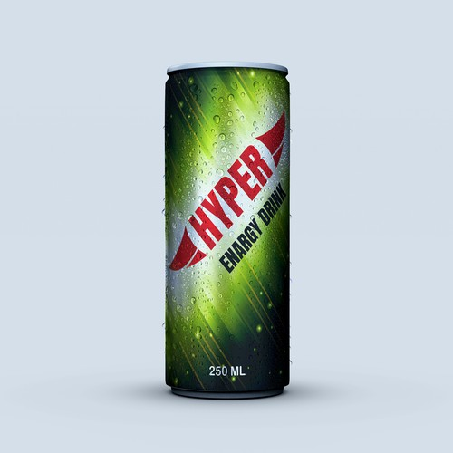 Brand label with the title 'Energy drink brand label design'