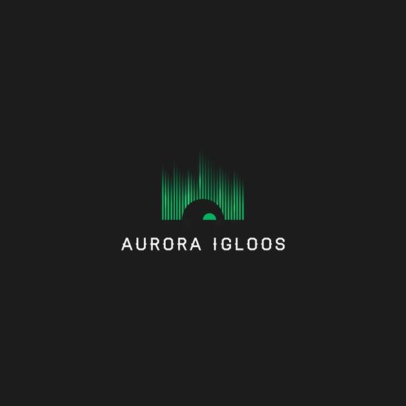 Aurora logo with the title 'Aurora Igloos'