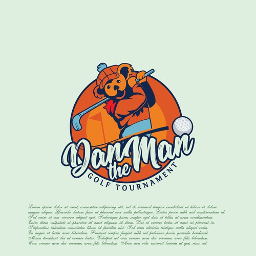 Tournament design with the title 'Dan the Man'