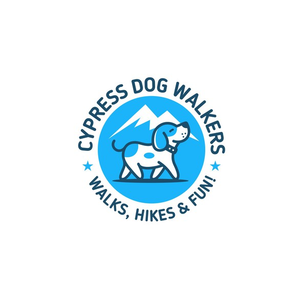 Beagle logo with the title 'Cypress Dog Walkers'