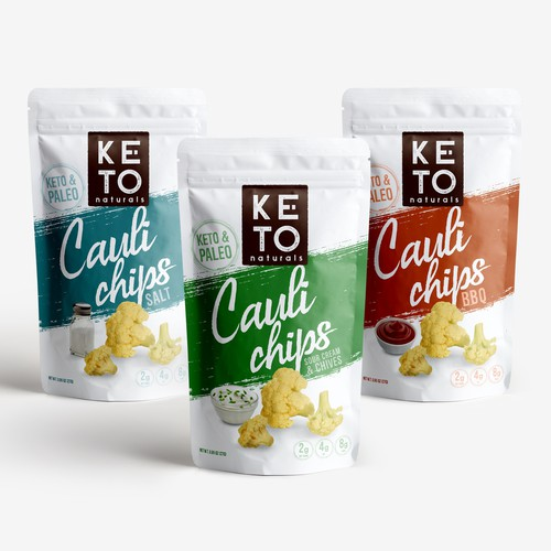 Keto packaging with the title 'keto pouch design'
