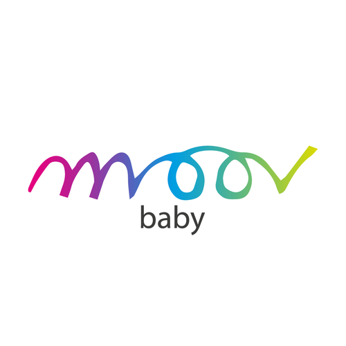 Toy shop logo with the title 'moov baby'