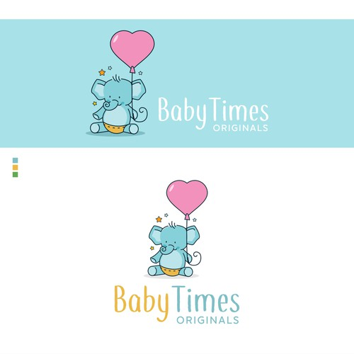 Sticker and decal logo with the title 'Baby eCommerce Store'