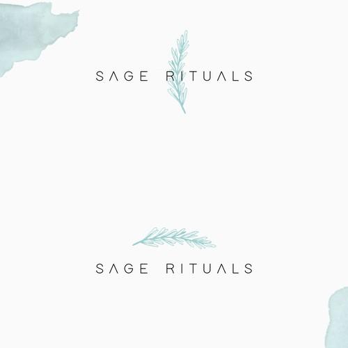 Facial logo with the title 'Sage Rituals Logo Design '