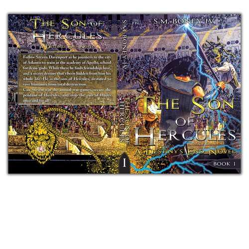 Arena design with the title 'Book cover '