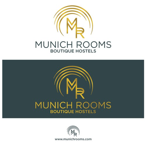 Airbnb design with the title 'Munich Rooms'
