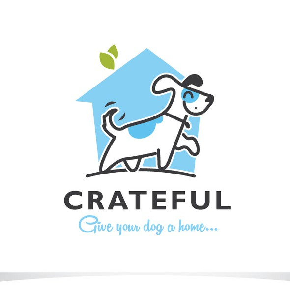 Dog house logo with the title 'Pet sitting.'
