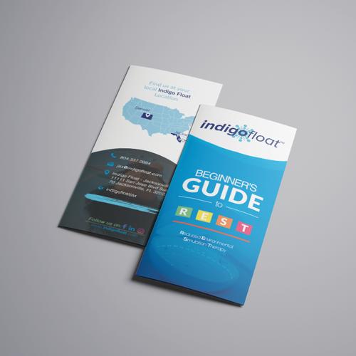 Indigo design with the title 'Tri-Fold brochure design'