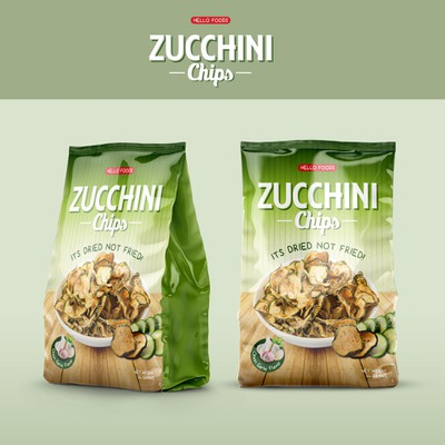 Packaging Design for Zucchini Chips