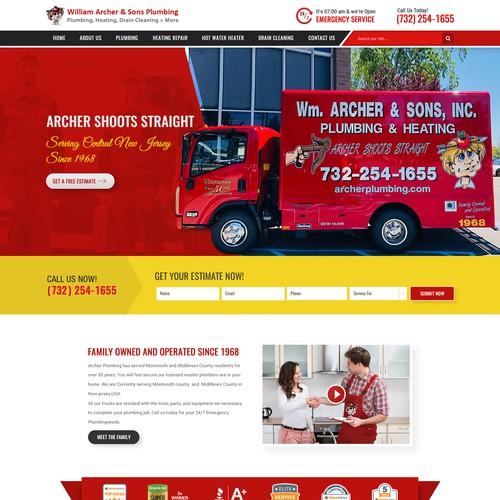 Plumbing design with the title 'Plumbing Company Awesome Website'