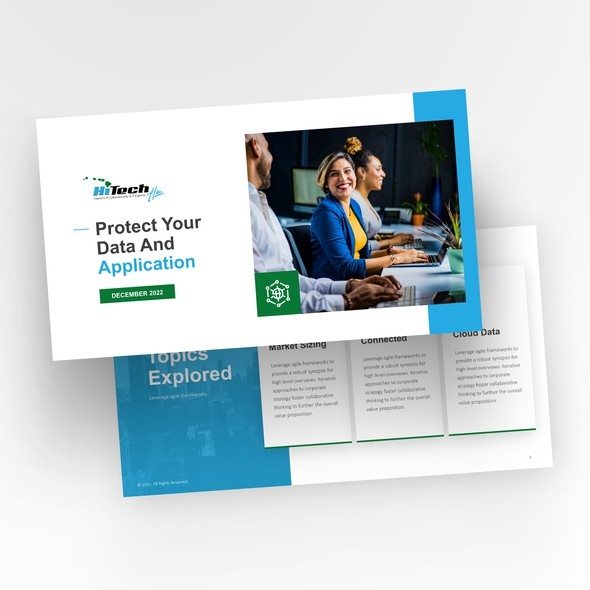 Captivating design with the title 'Simple and Sleek PowerPoint Design'