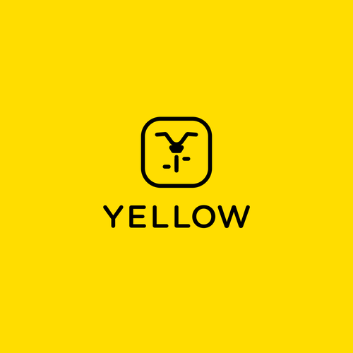 Electric bike logo with the title 'Yellow'
