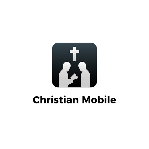 Gospel design with the title 'Christian Mobile App Single Icon.'