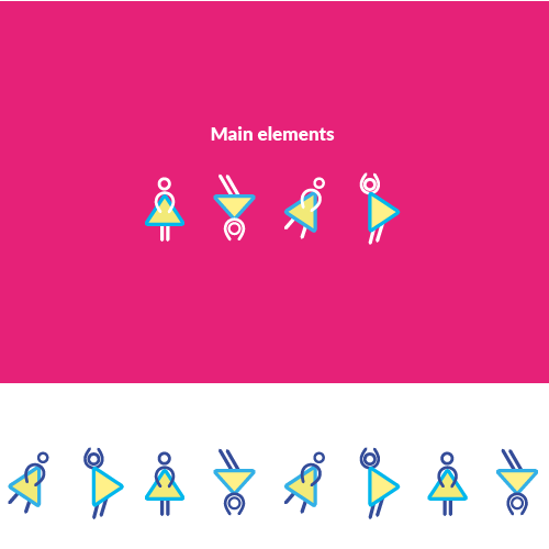 Gaming illustration with the title 'Graphic identity for a women tech conference'