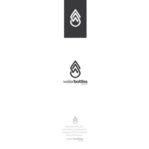 Dark logo with the title 'logo design for water bottles retail company'