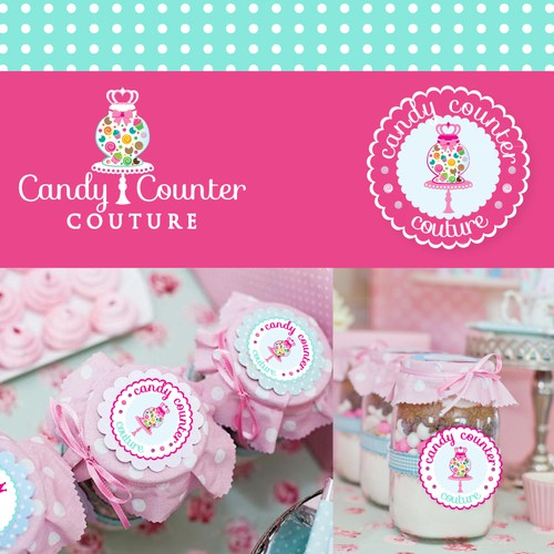 Sugar design with the title 'Candy table logo'