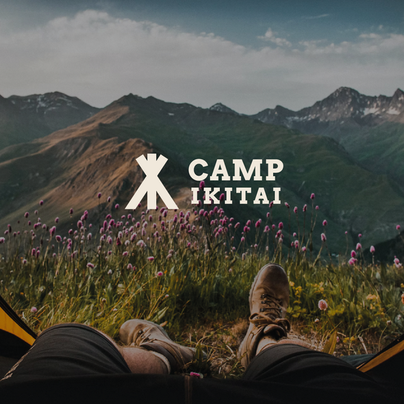 Bold design with the title 'Modern logo for a campsite finder web app'