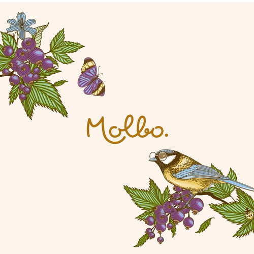 Intricate design with the title 'Molbo Logo and Label design'