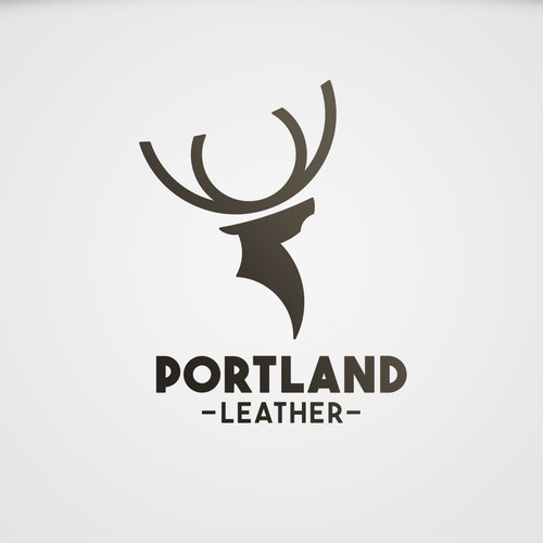 Leather design with the title 'Portland Leather logo concept'