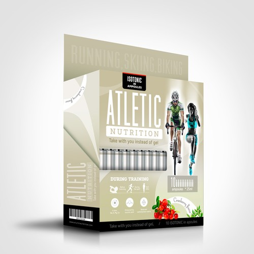 Typographic label with the title 'Atletic Nutrition'