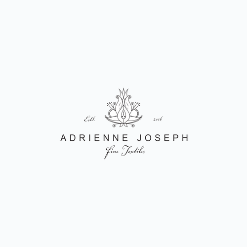 Upscale logo with the title 'Antiquities and fine textile logo design'
