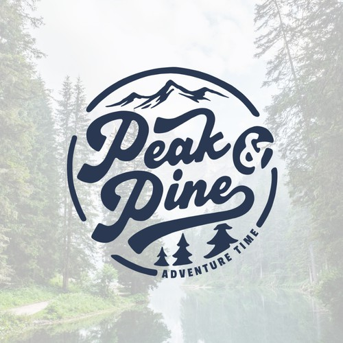 Wilderness logo with the title 'Peak & Pine Clothing Co.'