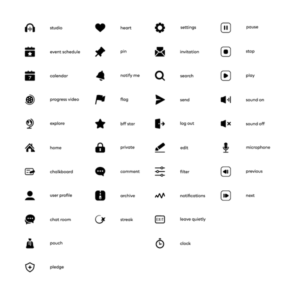 Music design with the title 'Pocket Icons'