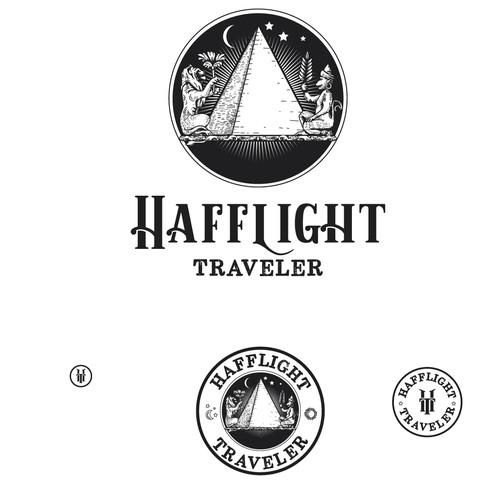 Monkey design with the title 'Hafflight Traveler'
