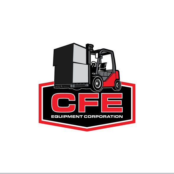 Forklift logo with the title 'Design a powerful new logo for a nationally recognized forklift co.'