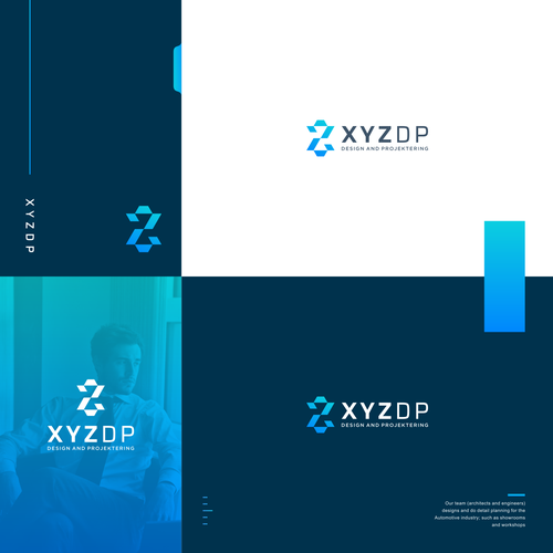 Engineering brand with the title 'Logo Concept For architects and engineers XYZDP'