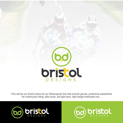Motorsport logo with the title 'bristol design'