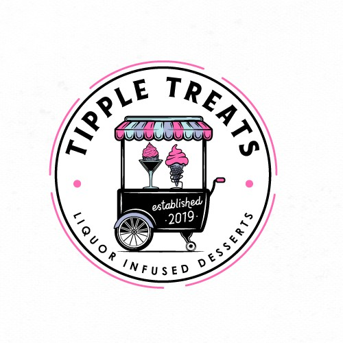 Food truck logo with the title 'Logo for Tipple Treats Food Truck'