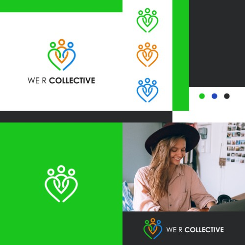 People brand with the title 'We r collective logo and branding design'