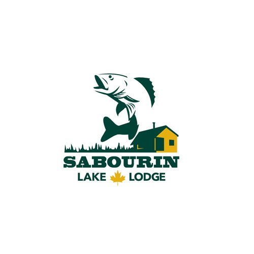 Country club logo with the title 'Sabourin Lake Lodge'