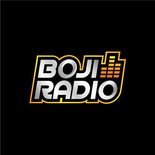 Radio logo with the title 'Boji Radio Logo Design Concept'