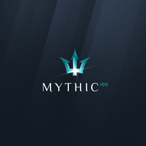 Serious design with the title 'New logo wanted for Mythic App'